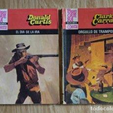 Cómics: LOTE DONALD CURTIS EL DÍA DE LA IRA CLARK CARRADOS ORGULLO DE TRAMPOSO BRUGUERA BISONTE ROJO OESTE. Lote 221361130