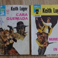Cómics: LOTE 2 KEITH LUGER CARA QUEMADA MURIERON DE DOS BRUGUERA HÉROES DE LA PRADERA BOLSILIBROS BRUGUERA. Lote 221387158