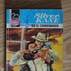 Cómics: SIETE CONDENADOS SILVER KANE BRAVO OESTE BOLSILIBROS BRUGUERA Nº 955 AÑO 1979 PULP. Lote 221454307