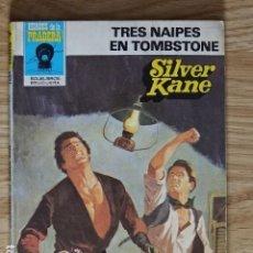 Cómics: TRES NAIPES EN TOMBSTONE SILVER KANE HÉROES DE LA PRADERA OESTE BOLSILIBROS BRUGUERA Nº 675 AÑO 1983. Lote 221454781