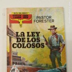 Cómics: LA LEY DE LOS COLOSOS / PASTOR FORESTER / TEXAS 1800 Nº 4 / PRODUCCIONES EDITORIALES. Lote 222589151