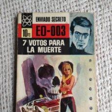 Cómics: ENVIADO SECRETO EO-003 Nº 30 7 VOTOS PARA LA MUERTE / CLARK CARRADOS. Lote 224695195
