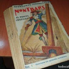 Cómics: MONTBARS, EL PIRATA JUSTICIERO, AVENTURAS HISTORICAS, CUADERNILLOS, ED. EL GATO NEGRO. Lote 225897970