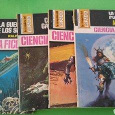 Cómics: 4 BOLSILIBROS , LA CONQUISTA DEL ESPACIO ,CIENCIA FICCION , 282,283,293,393, BRUGUERA 1976. Lote 228139365