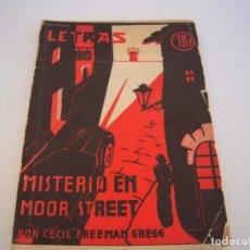 Cómics: LETRAS MISTERIO EN MOOR STRRT - CECIL FREEMAN GREGG. Lote 232355320