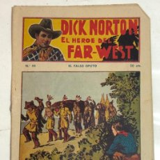 Cómics: DICK NORTON EL HEROE DEL FAR-WEST Nº44 - CONSERVA CROMOS CENTELLA. Lote 237300370