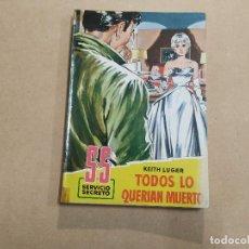 Cómics: NOVELA SS SERVICIO SECRETO Nº 493 - TODOS LO QUERÍAN MUERTO - KETH LUGER - BRUGUERA. Lote 244513030