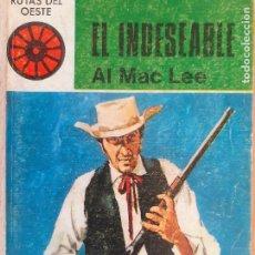 Cómics: RUTAS DEL OESTE Nº 448. EL INDESEABLE. AL MAC LEE. TORAY 1969. Lote 244588270