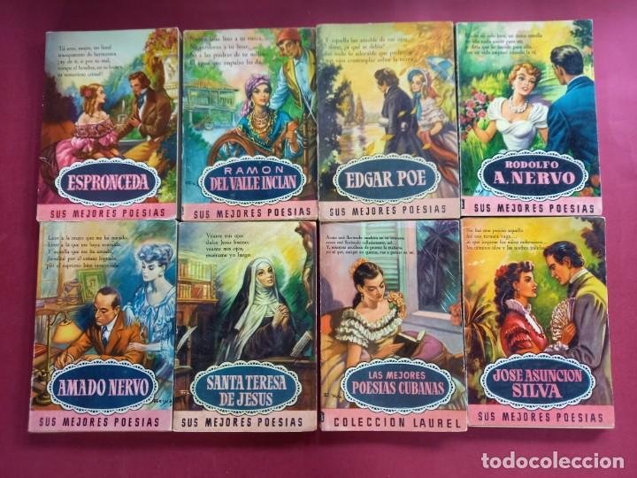 Cómics: 17 -COLECCION LAUREL-POESIAS-BRUGUERA- PORTADAS E.FREIXAS - EN BUEN ESTADO - Foto 3 - 244650505