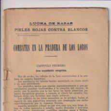 Cómics: LUCHA DE RAZAS. PIELES ROJAS CONTRA BLANCOS. EDITORIAL ATLANTE. Lote 253430840