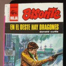 Fumetti: EXCELENTE- NOVELA DEL OESTE -BISONTE S.ROJA, Nº 1263: EN EL OESTE HAY DRAGONES, DONALD CURTIS (1972). Lote 254436225