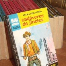 Cómics: MINI LIBROS BRUGURA SERIE OESTE Nº 349 CADAVERES DE JINETES MARCIAL LAFUENTE ESTEFANIA 1965. Lote 255655525