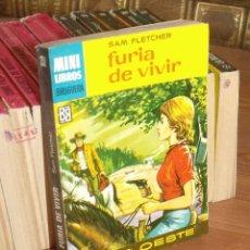 Cómics: MINI LIBROS BRUGURA SERIE OESTE Nº 352 FURIA DE VIVIR SAM FLETCHER 1965. Lote 255656100