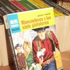 Cómics: MINI LIBROS BRUGUERA SERIE OESTE Nº 395 BLANCANIEVES Y LOS SIETE PISTOLEROS SILVER KANE 1965. Lote 255659480