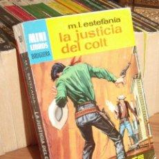 Cómics: MINI LIBROS BRUGUERA SERIE OESTE Nº 396 LA JUSTICIA DEL COLT MARCIAL LAFUENTE ESTEFANIA 1965. Lote 255659565