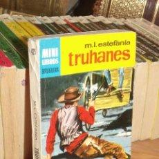 Cómics: MINI LIBROS BRUGUERA SERIE OESTE Nº 405 TRUHANES MARCIAL LAFUENTE ESTEFANIA 1966. Lote 255660370