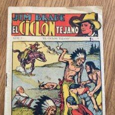 Cómics: JIM BRADE , EL CICLON TEJANO - NUMERO 1 - EDICIONES MARCO - ORIGINAL - DIFICIL. Lote 263681030