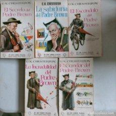 Cómics: LOTE DE PLAZA LIBRO CHESTERTON DEL PADRE BROWN 5 TOMOS 22-78-162-101-91. Lote 265792674