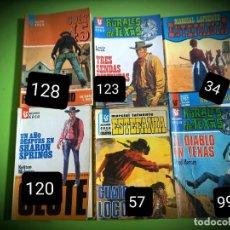 Comics : 6 NOVELAS DEL OESTE -EDITORIAL EASA- AÑOS 70-NUMERACION SOBREPUESTA. Lote 269125258