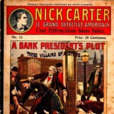 Cómics: 18 CUADERNOS NICK CARTER EDICIÓN FRANCESA - VER DETALLE. Lote 275940493
