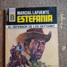 Cómics: NOVELA DE MARCIAL LAFUENTE ESTEFANIA EN EL DEFENSOR DE LOS HATTAWAY Nº 128. Lote 277251378