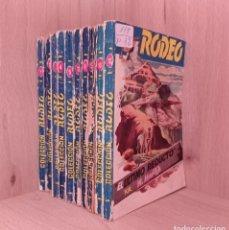 Cómics: EDITORIAL CIES COLECCION RODEO OESTE LOTE 10 NOVELAS-BOLSILIBROS-PULP. Lote 278561623