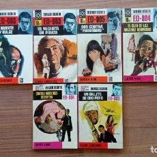 Cómics: BRUGUERA ENVIADO SECRETO LOTE 8 NOVELAS-BOLSILIBROS-PULP. Lote 278565968