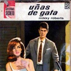 Comics : EDITORIAL BRUGUERA; ARCHIVO SECRETO; UÑAS DE GATA; Nº 16; MIKKY ROBERTS. Lote 286638603