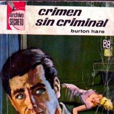 Comics : EDITORIAL BRUGUERA; ARCHIVO SECRETO; CRIMEN SIN CRIMINAL; Nº 102; BURTON HARE. Lote 286638898