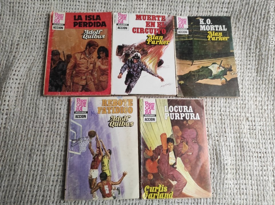 BOLSILIBROS BRUGUERA ACCION , LOTE DE 5 EJEMPLARES -ED. BRUGUERA (Tebeos, Comics y Pulp - Pulp)