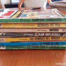 Cómics: NOVELAS OESTE DE CLIFF BRADLEY. LOTE DE7 EJEMPLARES. NORMAL ESTADO. Lote 295344338