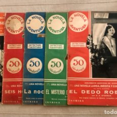 Cómics: LA NOVELA AVENTURA DETECTIVES Y AVENTURAS, 5 EJEMPLARES, AÑO 1933, (SUPLEMENTO DE ALGO).. Lote 295748108