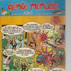 Cómics: SUPLEMENTO DE ABC DOMINICAL 'GENTE MENUDA', Nº 432. 3 DE MAYO DE 1998.EL BOTONES SACARINO EN PORTADA. Lote 5243315