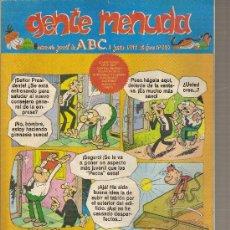 Cómics: SUPLEMENTO DE ABC DOMINICAL 'GENTE MENUDA', Nº 390.8 DE JUNIO DE 1997.EL BOTONES SACARINO EN PORTADA. Lote 5243326