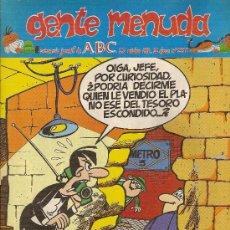 Cómics: SUPLEMENTO DE ABC DOMINICAL 'GENTE MENUDA', Nº 258. 23 DE OCTUBRE DE 1994. ANACLETO EN PORTADA.. Lote 5243512