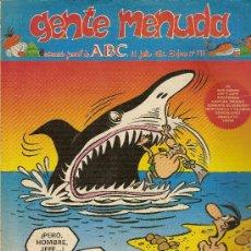 Cómics: SUPLEMENTO DE ABC DOMINICAL 'GENTE MENUDA', Nº 191. 11 DE JULIO DE 1993. ANACLETO EN PORTADA.. Lote 5243574