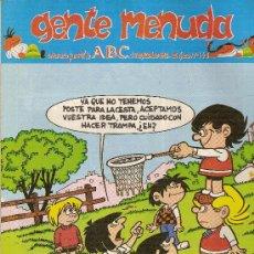 Cómics: SUPLEMENTO DE ABC DOMINICAL 'GENTE MENUDA', Nº 148. 13 DE SEPTIEMBRE DE 1992. ZIPI Y ZAPE EN PORTADA. Lote 5243628