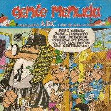 Cómics: SUPLEMENTO DE ABC 'GENTE MENUDA', Nº 125. 5 DE ABRIL DE 1992. MORTADELO Y FILEMÓN EN PORTADA.. Lote 5243685