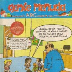 Cómics: SUPLEMENTO DE ABC DOMINICAL 'GENTE MENUDA', Nº 110. 22 DE DICIEMBRE DE 1991. ZIPI Y ZAPE EN PORTADA.. Lote 5243725