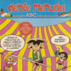Cómics: SUPLEMENTO DE ABC DOMINICAL 'GENTE MENUDA', Nº 104. 10 DE NOVIEMBRE DE 1991. ZIPI Y ZAPE EN PORTADA.. Lote 5243787