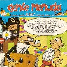 Cómics: SUPLEMENTO DE ABC 'GENTE MENUDA', Nº 37. 29 DE JULIO DE 1990. MORTADELO Y FILEMÓN EN PORTADA.. Lote 5243885