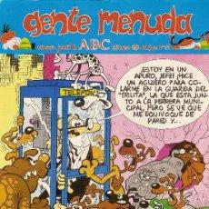 Cómics: SUPLEMENTO DE ABC 'GENTE MENUDA', Nº 19. 25 DE MARZO DE 1990. MORTADELO Y FILEMÓN EN PORTADA.. Lote 5243891
