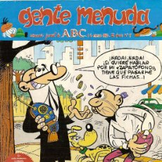 Cómics: SUPLEMENTO DE ABC 'GENTE MENUDA', Nº 9. 14 DE ENERO DE 1990. MORTADELO Y FILEMÓN EN PORTADA.. Lote 5243909