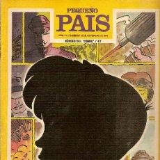 Cómics: SUPLEMENTO DOMINICAL 'PEQUEÑO PAÍS', Nº 416. 19 DE NOVIEMBRE DE 1989. CUTO EN PORTADA.. Lote 5244541
