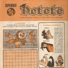 Cómics: SUPLEMENTO DE LA REVISTA 'PETETE', Nº 91. CÓMICS Y PASATIEMPOS. Lote 5249262