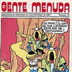 Cómics: GENTE MENUDA Nº18 (SUPLEMENTO ABC) FLASH GORDON, HEIDI, DICK EL ARTILLERO,VICKIE, PININ DE ALFONSO. Lote 9849518