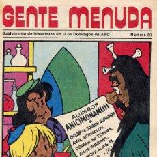 Cómics: GENTE MENUDA Nº39 (SUPLEMENTO ABC) PÓSTER DE DANIEL TRAVIESO, DICK EL ARTILLERO, SAMMY,... Lote 10049023