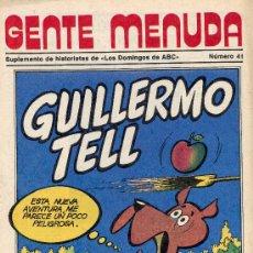 Cómics: GENTE MENUDA Nº40 (SUPLEMENTO ABC) PÓSTER DE ZOKO, DICK EL ARTILLERO, SAMMY,... Lote 10049115