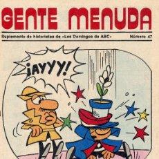 Cómics: GENTE MENUDA Nº47 (SUPLEMENTO ABC) DICK EL ARTILLERO, SAMMY, MÁGICA AVENTURA DE CRUZ DELGADO. Lote 10065032