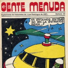 Cómics: GENTE MENUDA Nº49 (SUPLEMENTO ABC) DICK EL ARTILLERO, SAMMY, MÁGICA AVENTURA DE CRUZ DELGADO. Lote 10065063